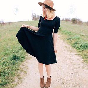 Lularoe Nicole Dress Noir Solid Black